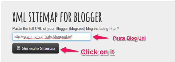 xml sitemap for blogger