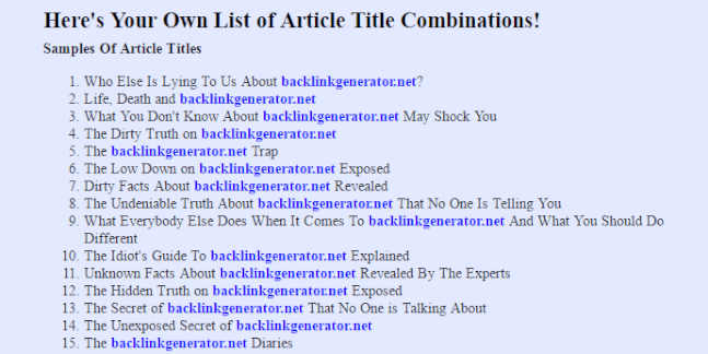 Title generator for essay