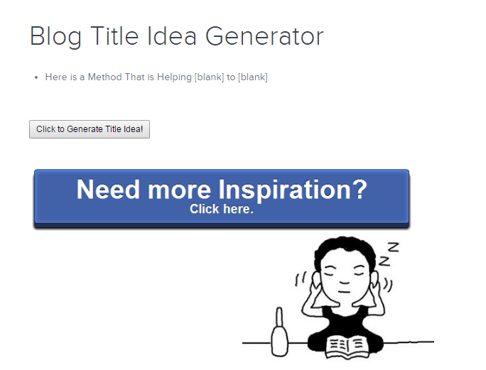 Inbound Now Title And Idea Generator