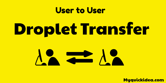 droplet transfer from one DO account to another