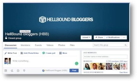hellbound bloggers FB group