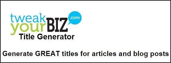 Tweakyourbiz Title Generator