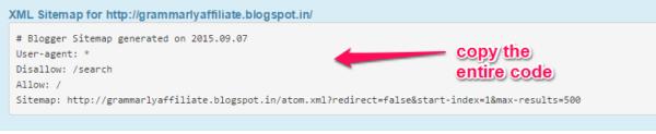 Sitemap xml code