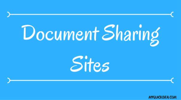Document Sharing Sites LIST