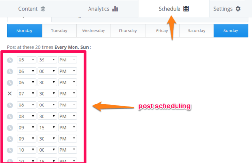 buffer-post-scheduling