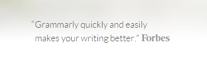 Forbes appreciated grammarly