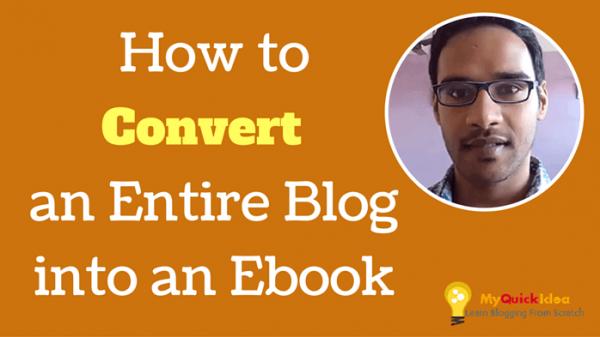 convert blog posts to ebook