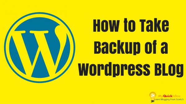How to Take Backup of a Wordpress Blog