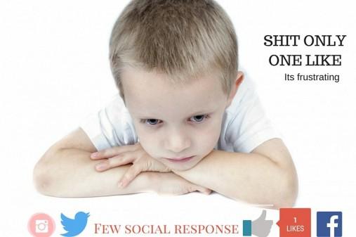 Few social media response