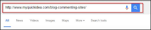 put the url into google search