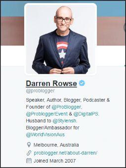 Darren Rowse (@problogger) Twitter