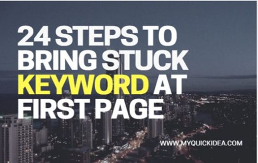 Infographic 24 Steps to Bring Stuck Keyword at First Page