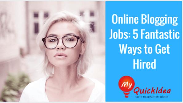 Online Blogging Jobs