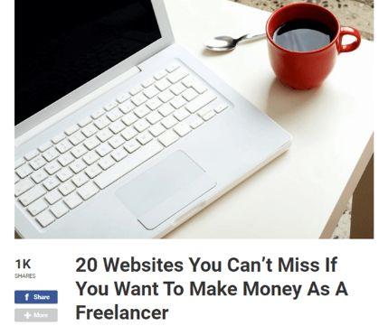 sites to Make Money As A Freelancer