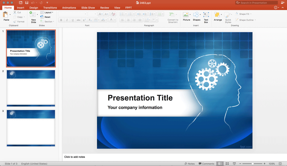 free-powerpoint-template-brain-diagram
