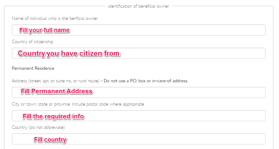 fill name address citizenship