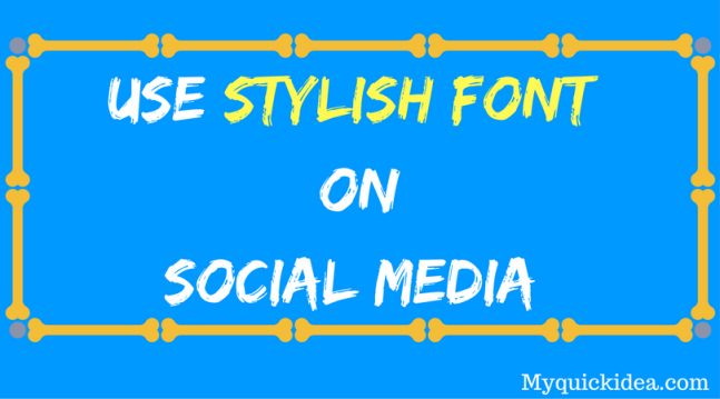 How to Use Italic Bold Letters on Twitter Facebook
