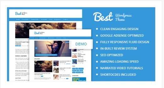 Best - Engaging Clean & Beautiful Magazine WordPress Theme