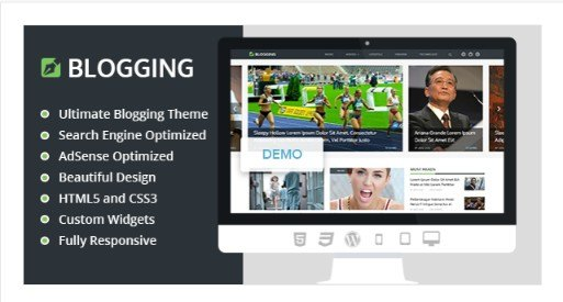 Blogging - Best WordPress Theme For Bloggers