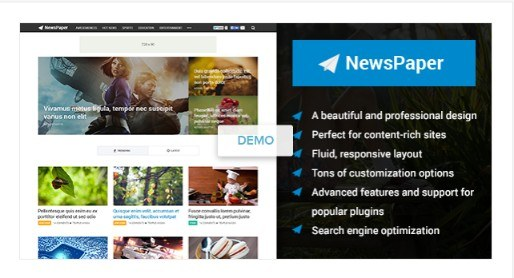 NewsPaper - Beautiful Magazine WordPress Theme