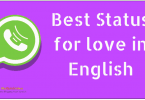 Best Status For Whatsapp In English For Love