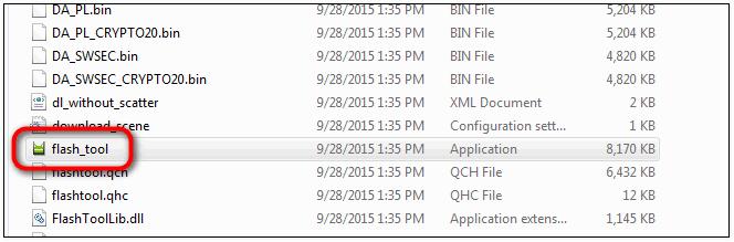 run SP flash tool file