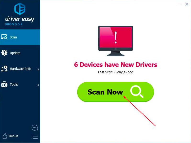 scan for driver in drivereasy