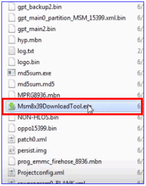 Msm8x39DownloadTool as administrator