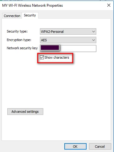 have right check on show characters option to view the password