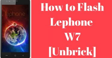 How to Install Stock Rom on Lephone w7