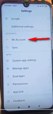 make sure you are connected with mi account