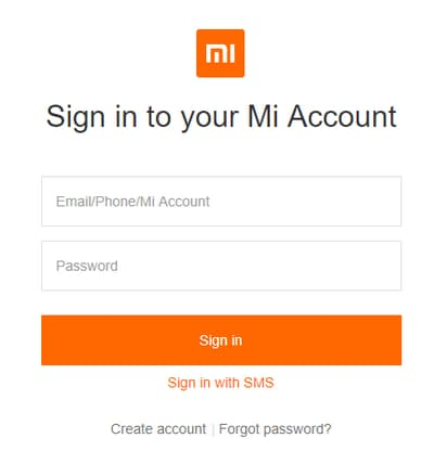 sign in your mi account