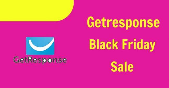 GetResponse Black Friday Sale 2019