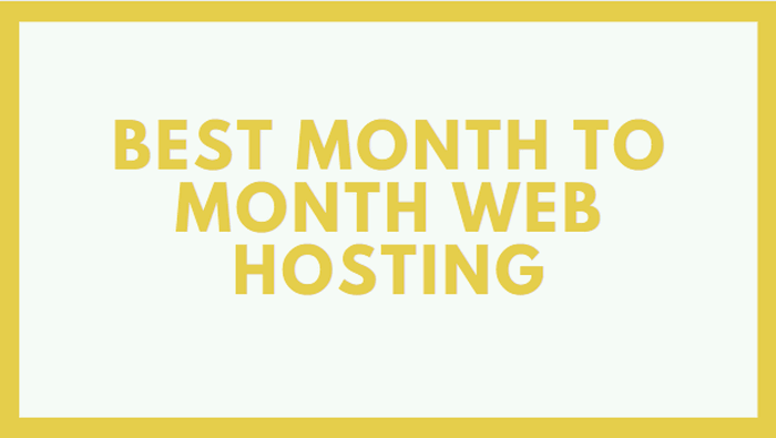 Best Month to Month Wordpress Hosting