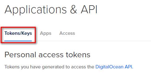 select tokens-keys