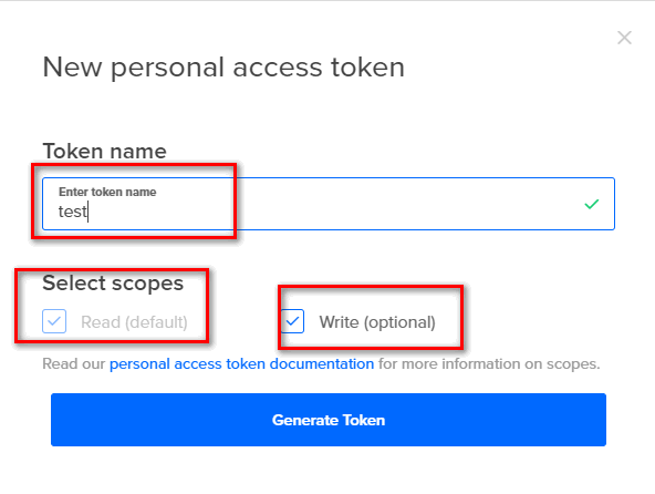 write token name