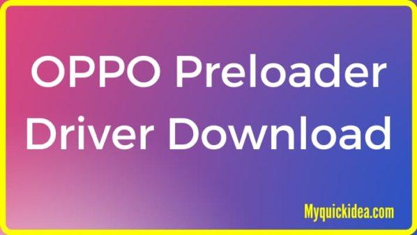 OPPO Preloader Driver Download