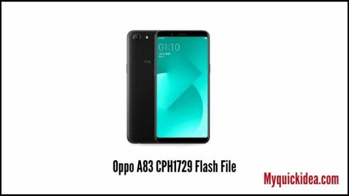 Oppo A83 CPH1729 Flash File