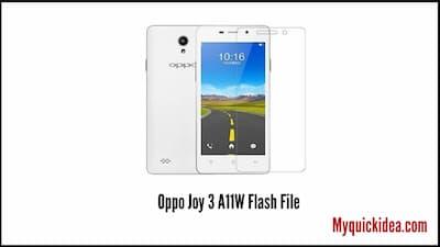 Oppo Joy 3 A11W Flash File