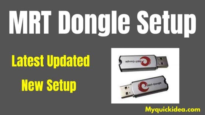 Download MRT Dongle Latest Setup