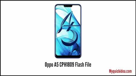 Oppo A5 CPH1809 Firmware Flash File
