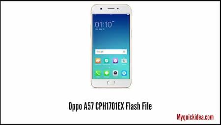 Oppo A57 CPH1701EX Flash File