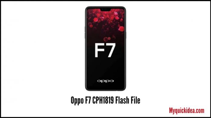 Oppo F7 CPH1819 Flash File