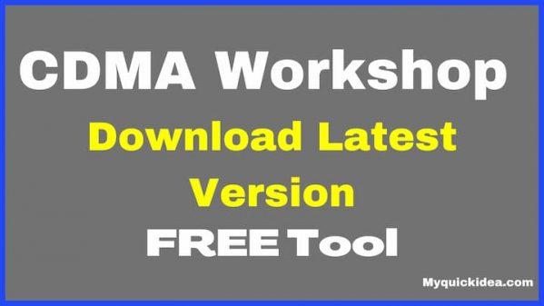CDMA Workshop Tool 3.9.0 Download Latest Version