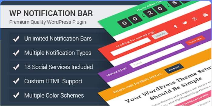 WP Notification Bar Pro Coupon Code